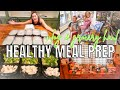 HEALTHY MEAL PREP & VLOG | GROCERY HAUL FOR FAMILY OF 5 | EASY MEAL PREP ON A BUDGET