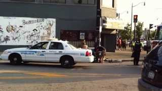 Buffalo NY /guy on bike gets hit by car (aftermath) AUGUST 11 2013