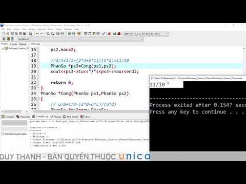 (Lập trình C++) Bài 97  Bài tập rèn luyện Cấu trúc phân số