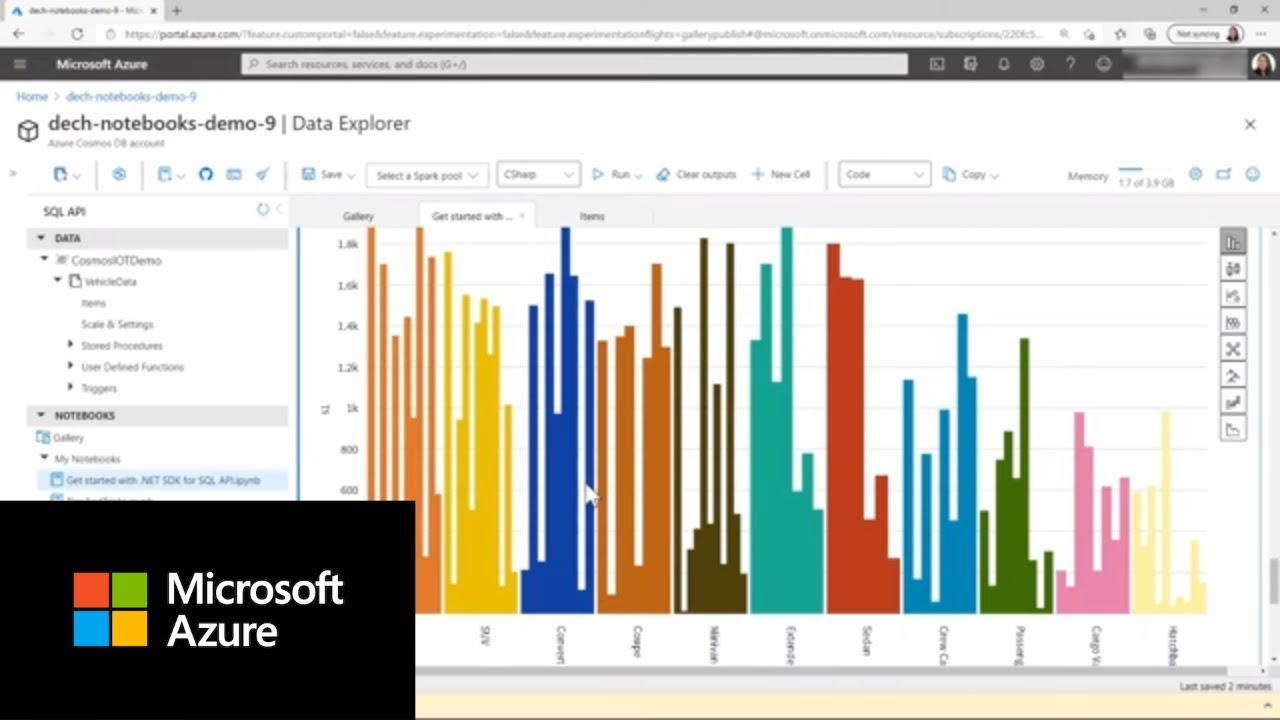 How to Get Started with Azure Cosmos DB Built-in Notebooks