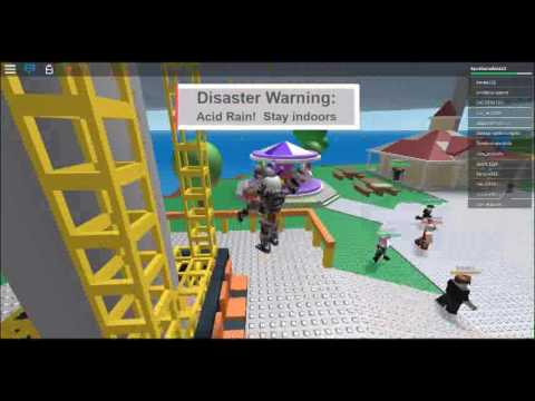 Natural disaster Surivival I PUSHED PEOPLE OFF THE LOBBY And GOOD PLACE FOR EARTHQUWACK |