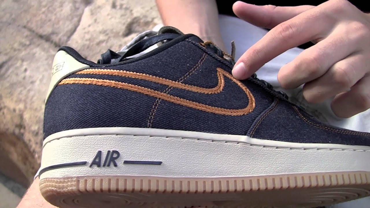 nike air force 1 low oregon denim