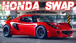 700HP Honda Powered Lotus Elise- IT'S SCARY FAST! (1900LB Widebody Turbo K-Swap)