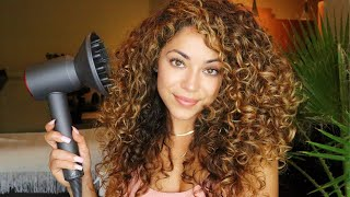 How I Diffuse Curly Hair