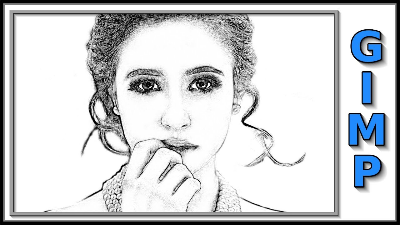 Gimp how to change a photo into a pencil drawing