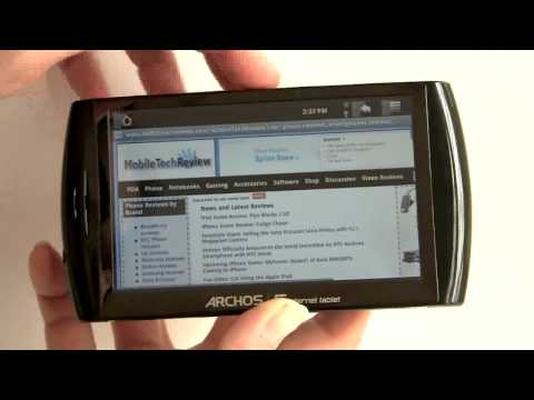 Archos 5 Android Internet Tablet Video Review