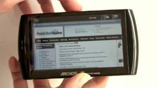Archos 5 Android Internet Tablet Video Review(A video review of the Archos 5 Android Internet Tablet. This is a handheld media player and Android Internet Tablet. It does most things an Android phone will do ..., 2010-04-16T22:19:42.000Z)