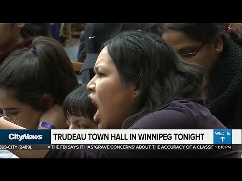 Emotions high at Trudeau town hall in Winnipeg