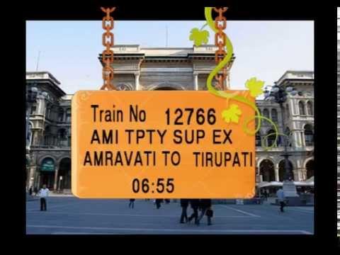 Train no 12766 TRAIN NAME AMI TPTY SUP EX AMRAVATI BADNERA JN AKOLA JN  WASHIM