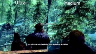 Skyrim Medium VS Ultra Comparison [HD]
