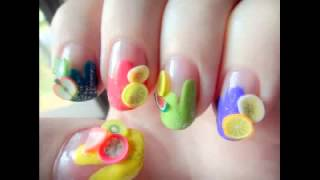 Gel Ongles Peints de Fruits