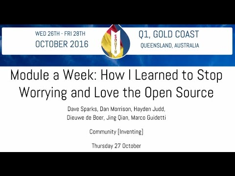 Module a Week or: How I Learned to ... Love the Open Source