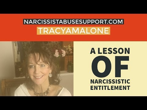 A lesson of entitlement by a narcissist