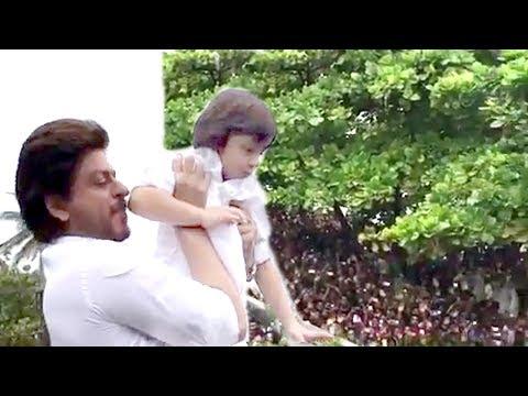 INSIDE Video Shahrukh Khan's Son Abram Khan Wishing Eid Mubarak To FANS Outside Mannat