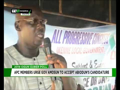 Ikenne APC members urge Amosun to accept Dapo Abiodun's candidature