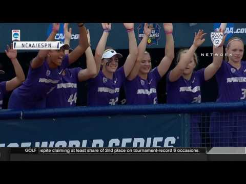 Women's College World Series Highlights: Washington softball knocks out UCLA with 2-hit shutout