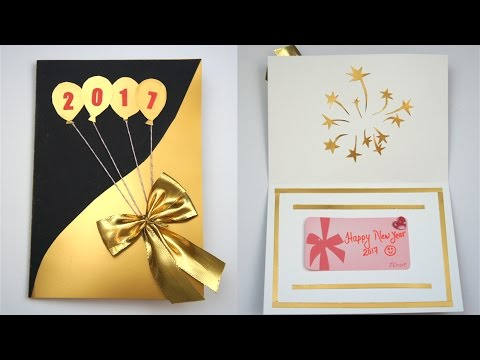 diy new year card 2017