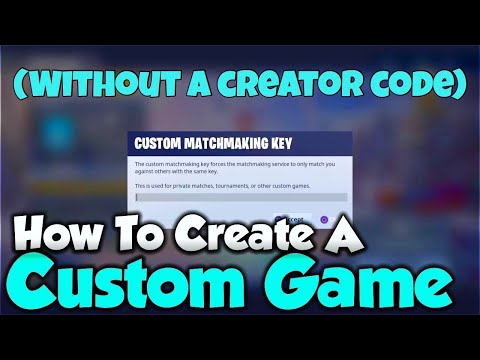 How To Create A Custom Game In Fortnite WITHOUT A Support A Creator Code! +Giveaway