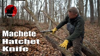"""🔪 Japanese Silky Nata Hatchet 9.5"""" - Test and Preview"""
