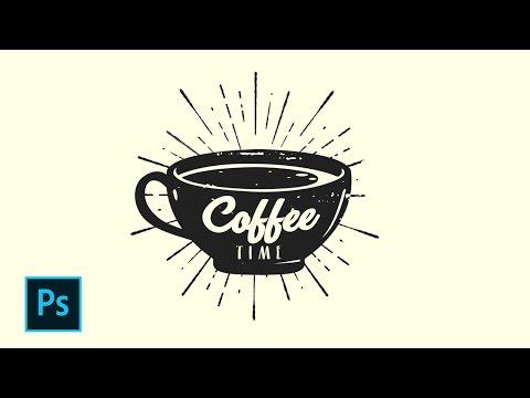 Cara Desain Logo Retro Coffee Shop - Photoshop Tutorial Indonesia