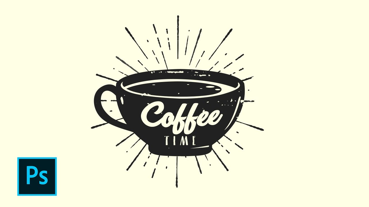 Cara Desain Logo Retro Coffee Shop Shop Tutorial Indonesia