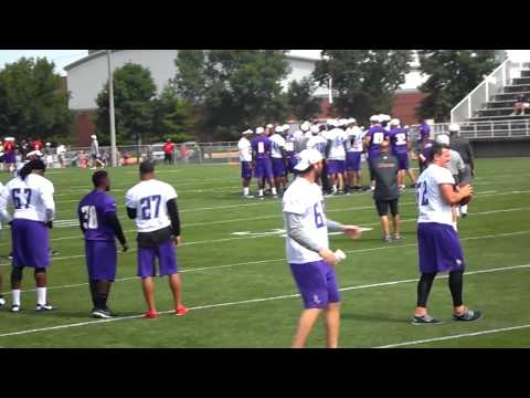 Vikings Training Camp 2013 (Jared Allen and Kevin Williams)