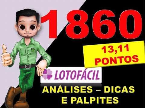 Lotofacil 1860 Dicas Analises E Palpites Youtube