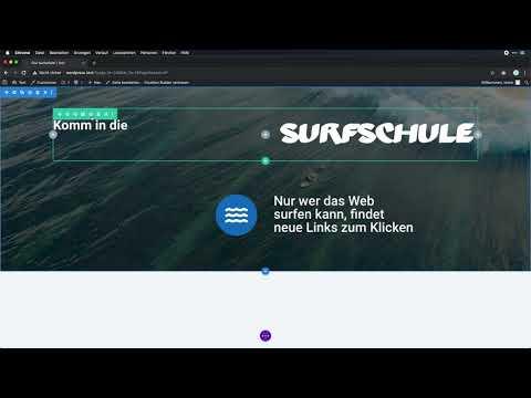 Die Surfschule mit dem Divi Page-Builder nachgebaut - WordPress-Page-Builder im Test