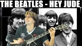 Beatles - Hey Jude [FINGERSTYLE GUITAR] Cover Acoustic Guitar solo