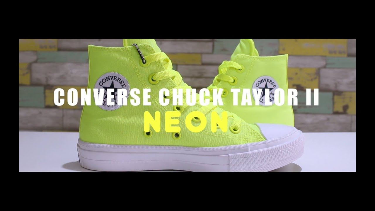 bc0e63da9b58 Review  Converse Chuck Taylor II Neon Pack - YouTube