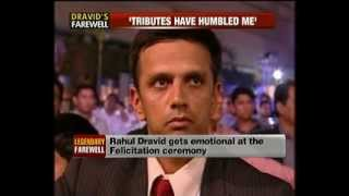 Download Rahul Dravid retirement felicitation by BCCI @ NewsX Mp3 and Videos