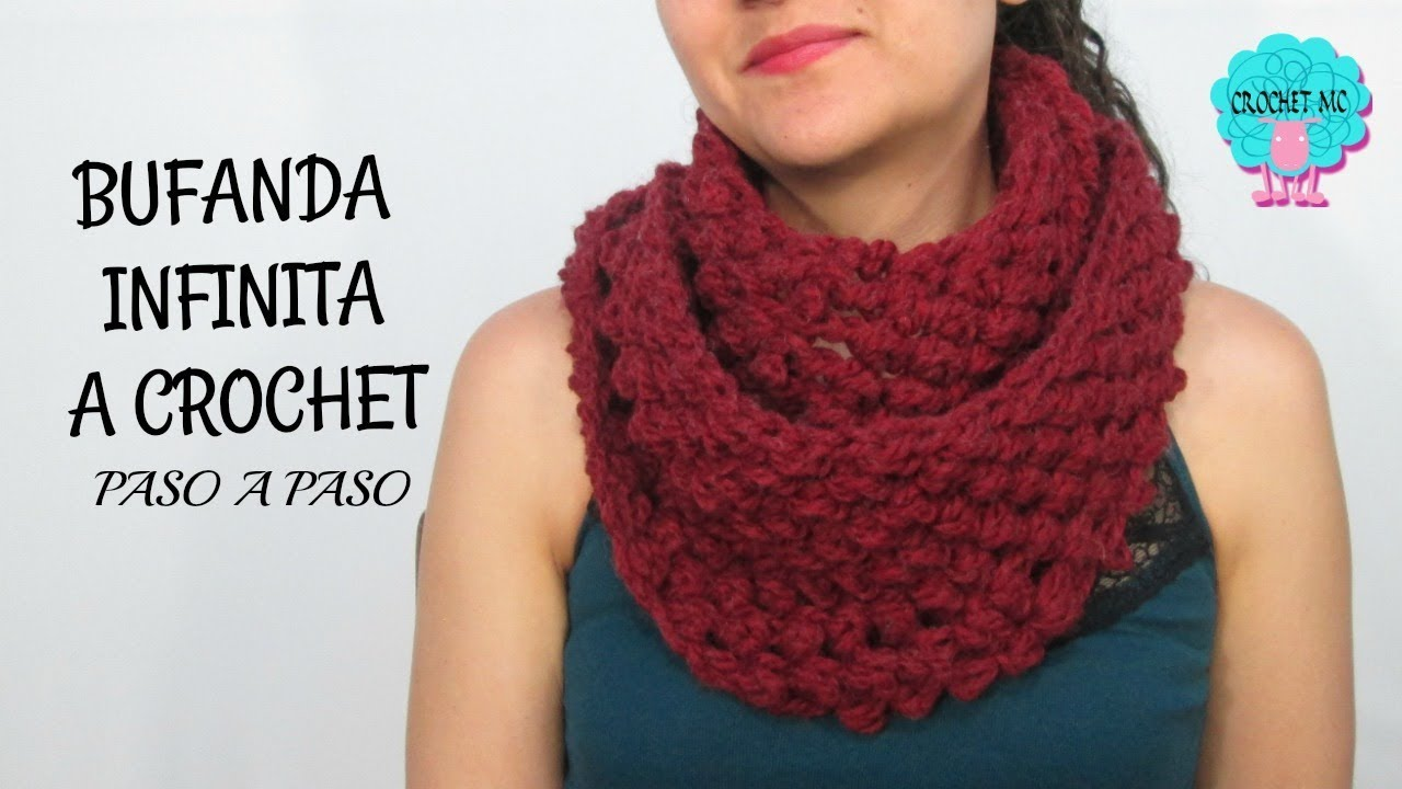 Tutorial bufanda infinita a crochet - YouTube