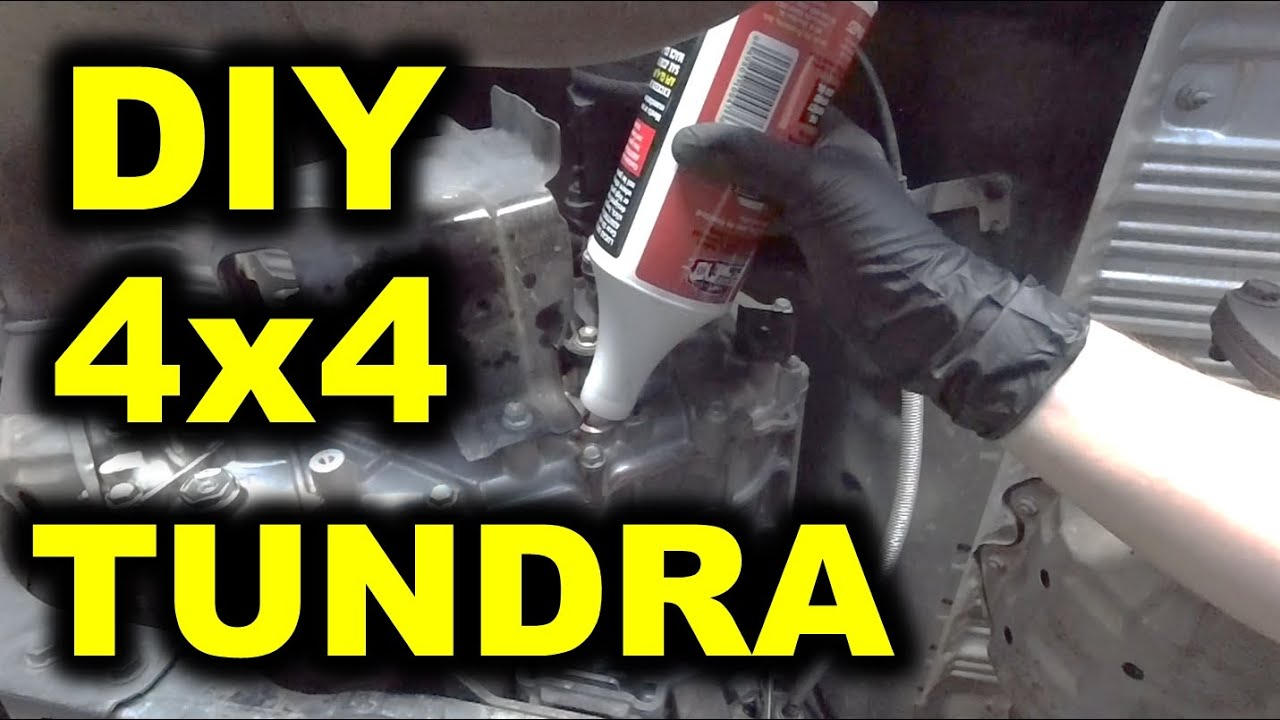 TRANSFER CASE OIL CHANGE - TOYOTA TUNDRA 4x4 5 7L - DIY save money!  2007-2013 & 2014+