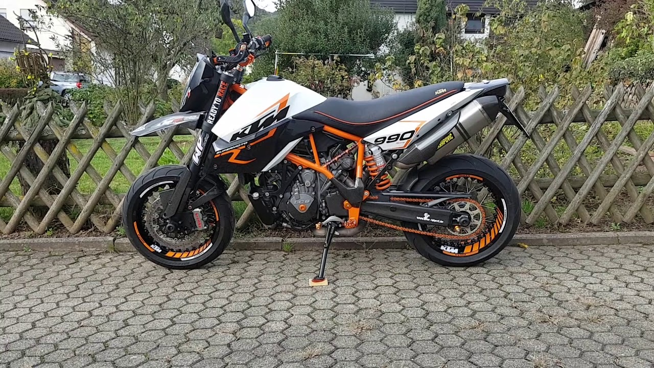 Random: KTM 990 SMR with Arrow exhaust - YouTube