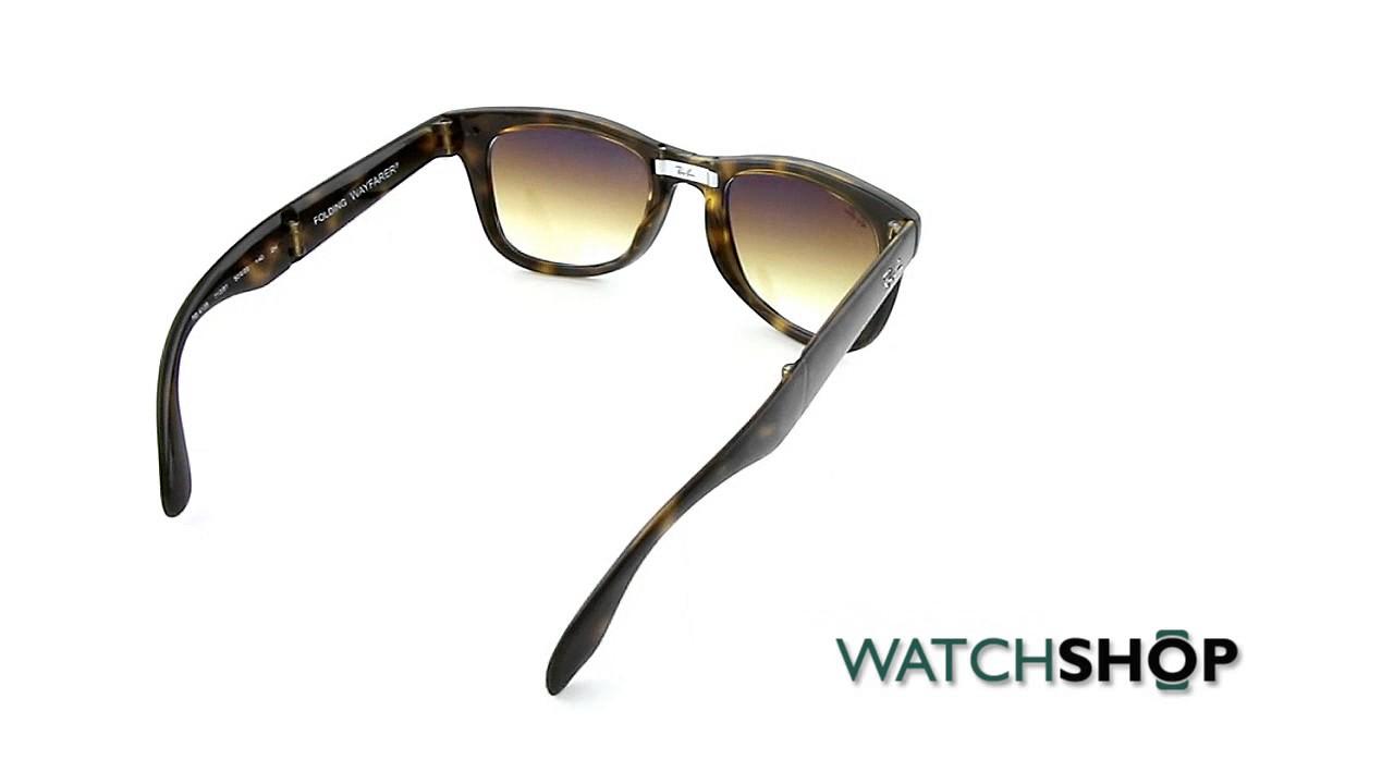 78bb8248f9f Ray-Ban Men s Wayfarer Folding Classic Sunglasses (RB4105-710 51-50 ...
