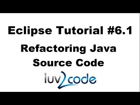 Java Eclipse Tutorial - Part 6.1: Refactoring Code (Extract Constants and Variables)