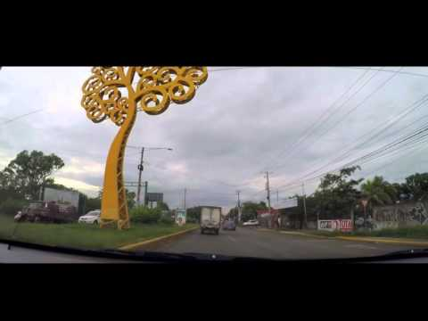 Managua Airport drive to the city. Nicaragua Oct 2015 Part 1/2