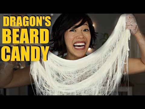 DRAGON'S BEARD CANDY Hand-pulled Cotton Candy Recipe - FAILS Included!