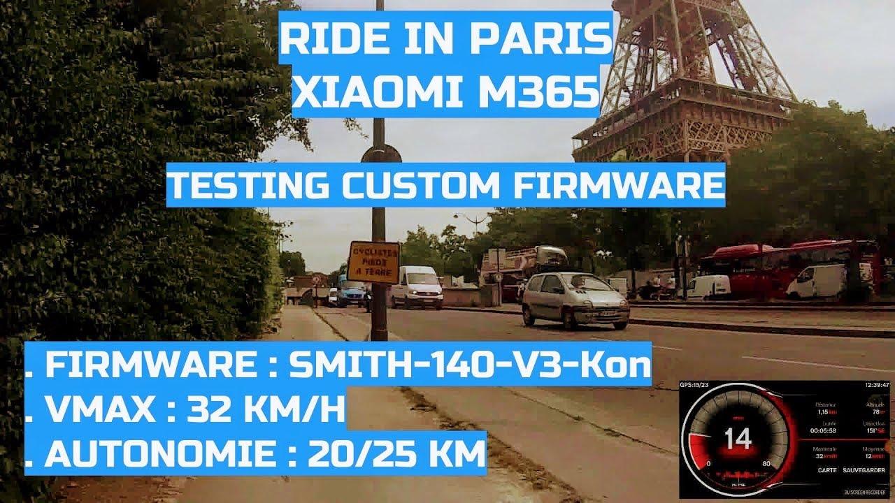 Xiaomi M365 : Test custom Firmware MrS140V3Kon