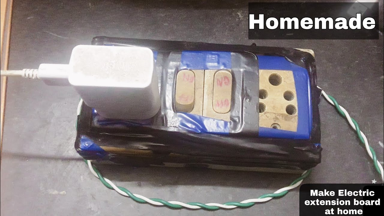 How to make an Electric Extension board at home easily |Learn ...