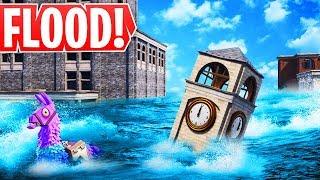 *HUGE* FLOOD Destroys Fortnite Map! New Season 8 Locations!