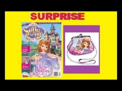 Sofia the first Disney surprise Purse Magazine learning and playing