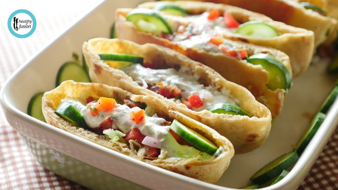 Whole Wheat Pita With Mince Filling Recipe By Healthy Fusion Youtube