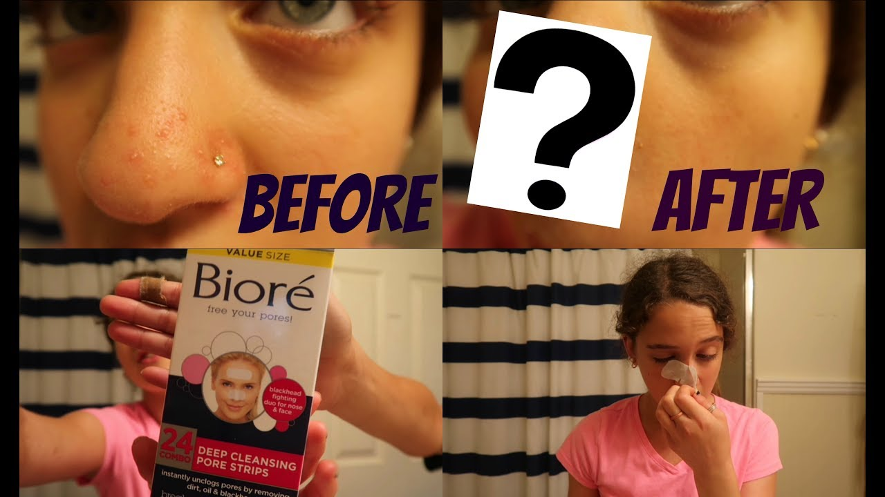 Bioré Deep Cleaning Pore Strips Demo and Review!! (With Nose Piercing!)   Zoe Rebekah