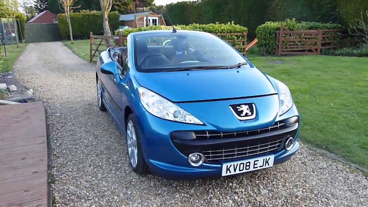Review Of 2008 Peugeot 207cc 1 6 Gt Convertible For Sale