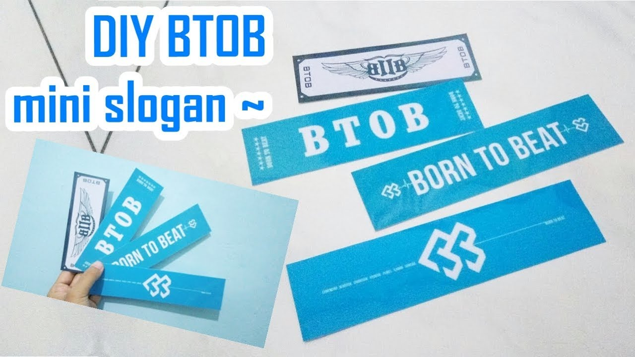 DIY KPOP 비투비 BTOB mini slogan ~