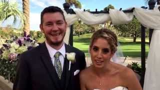 Eric and Nicole got married at Talega golf course in San Clemente.