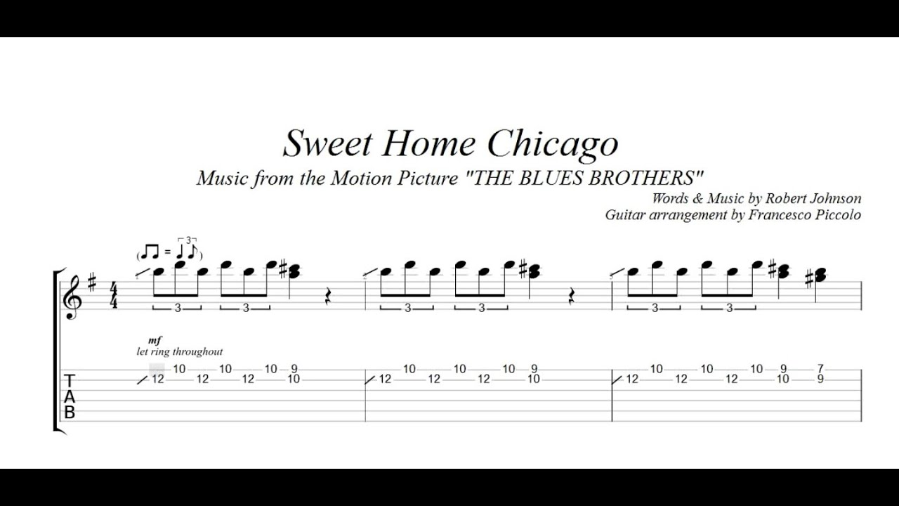 With ultimate guitar pro you can. The Six Strings Sweet Home Chicago Guitar Tab In E Minor Download Print Sku Mn0211217