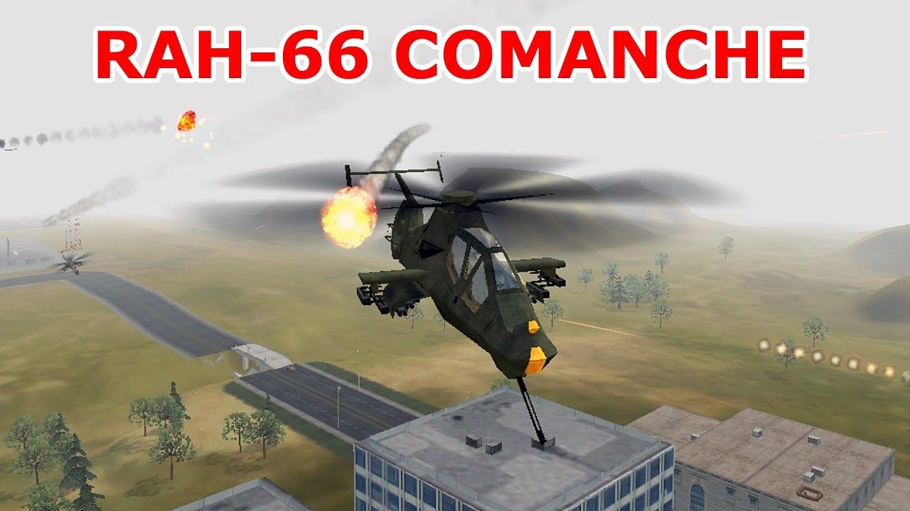 Lái trực thăng tàng hình RAH-66 trong game Comanche 4 – cũ mà hay.