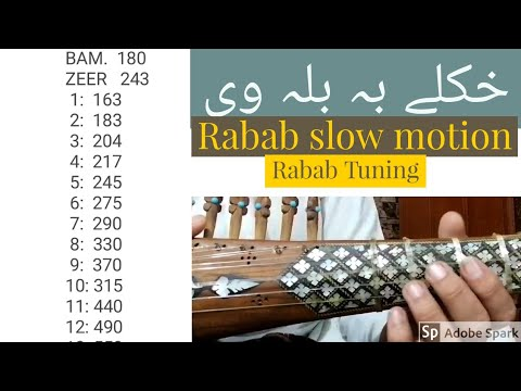 Rabab Tuning With Pashto Song Slow Motion And Fast Easy Way For Rabab Tuning